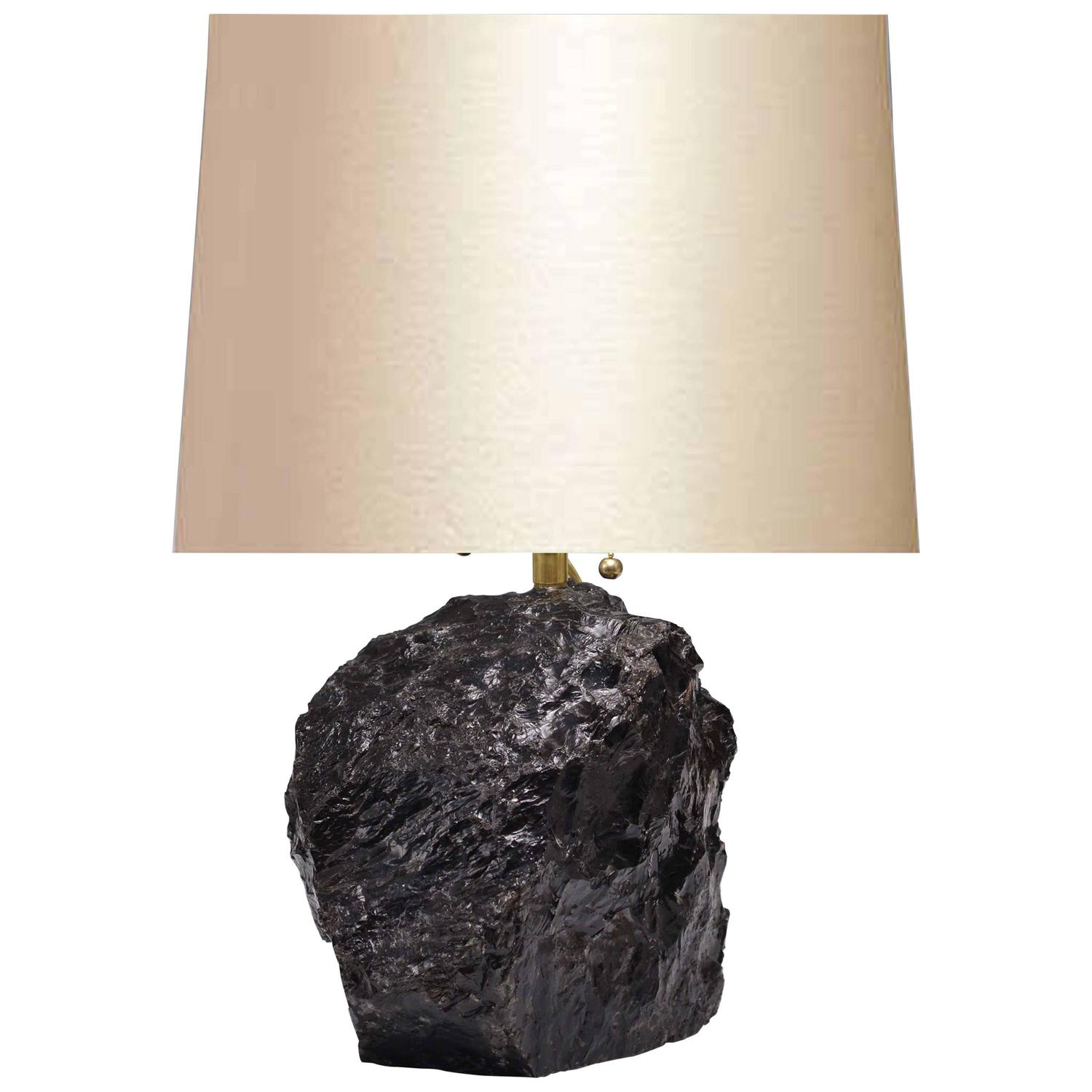 Crystal Stone Lamp Natural Dark Rock Crystal Quartz Lamp At 1stdibs