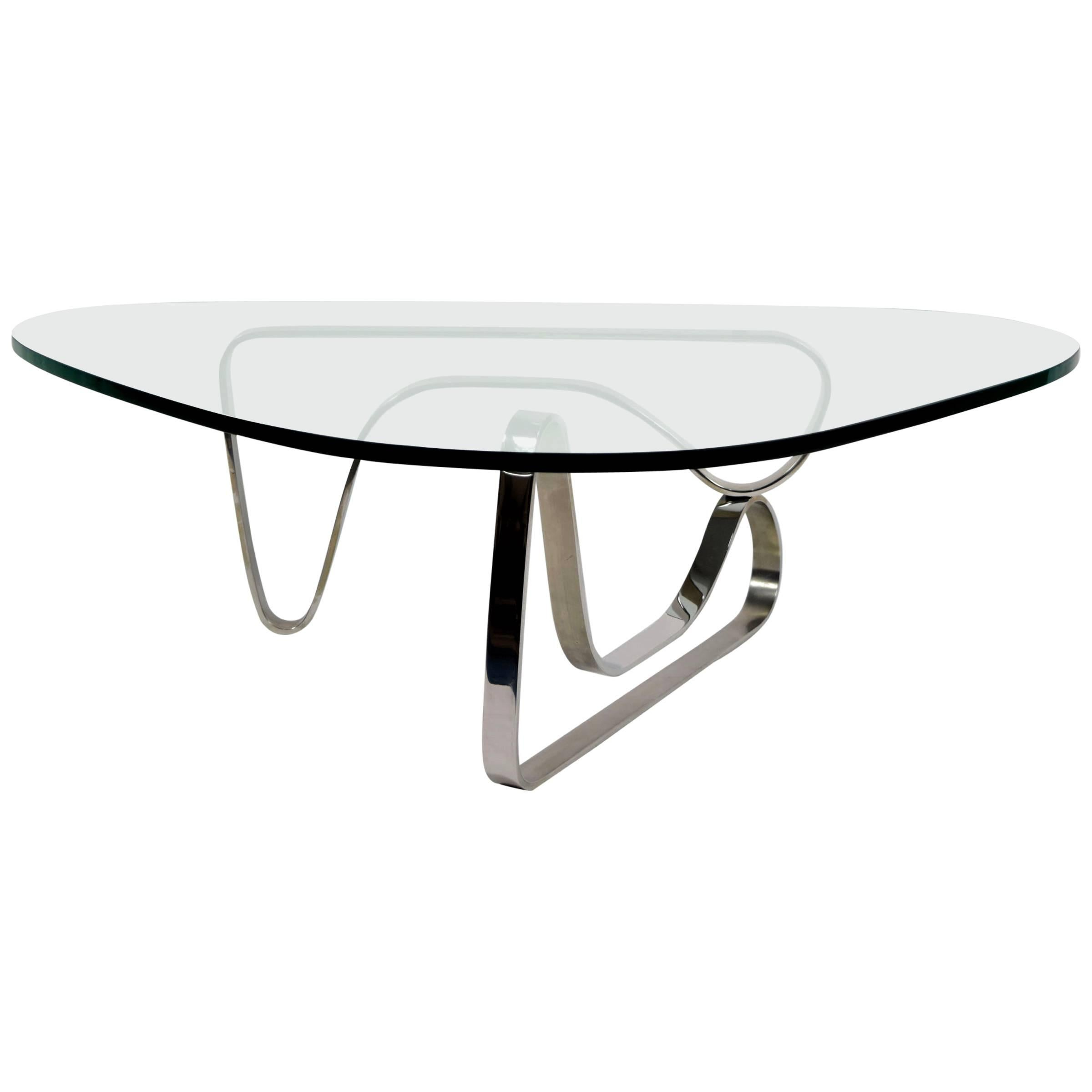 Noguchi Table Noguchi Style Coffee Table With Stainless Steel Base