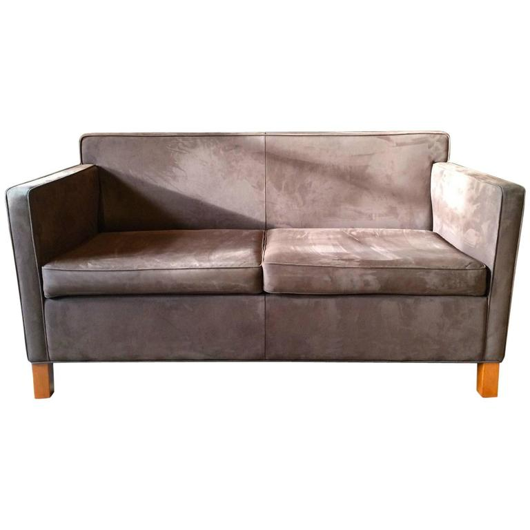 Seat And Sofas Krefeld Knoll Studio Krefeld Two-seat Sofa Settee Ludwig Mies Van Der Rohe Leather 1 At 1stdibs
