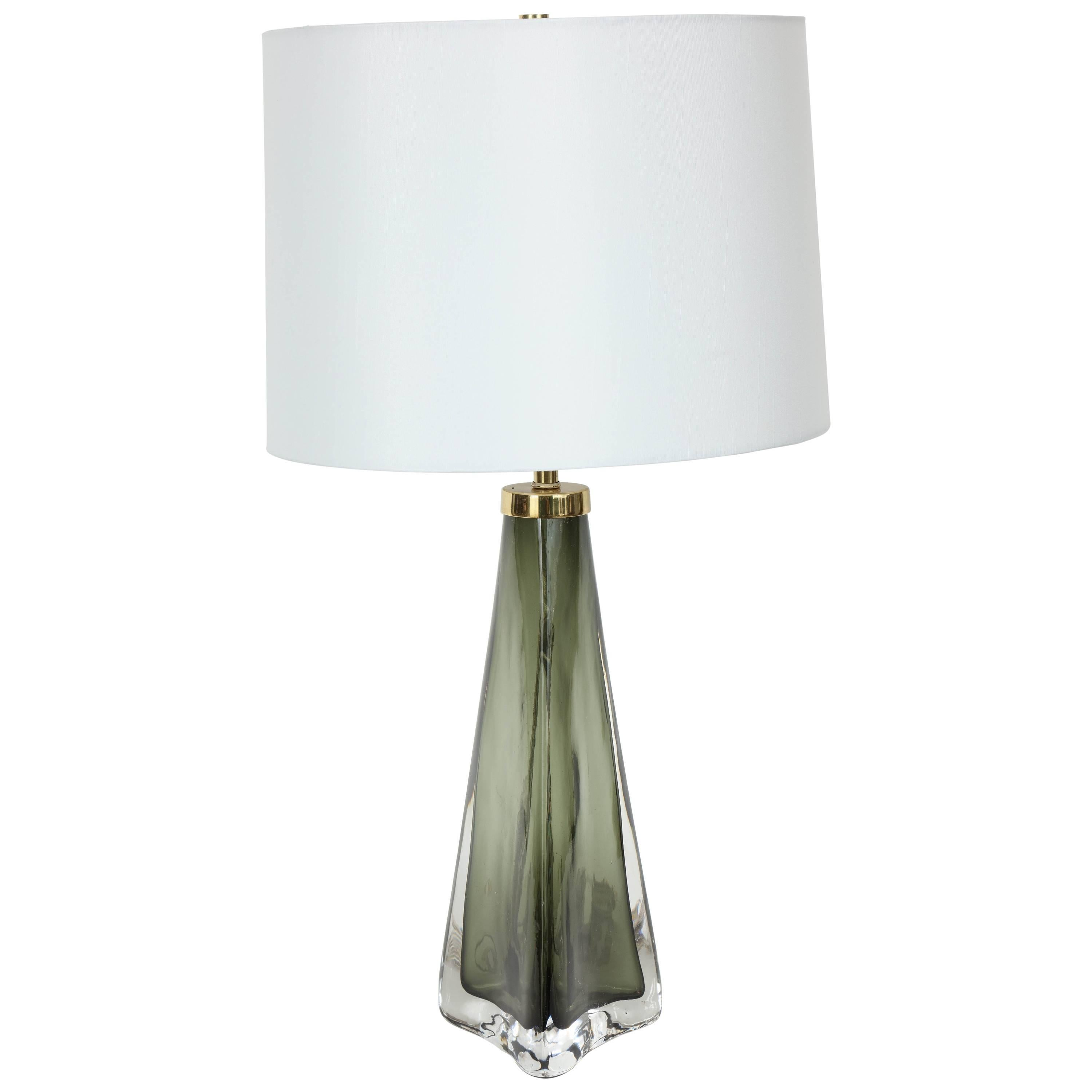 Crystal Lamp Olive Green Crystal Lamp By Carl Fagerlund For Orrefors