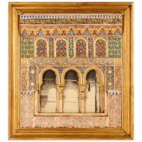 Spanish Plaster Wall Plaque Depicting the Alhambra Moorish ...