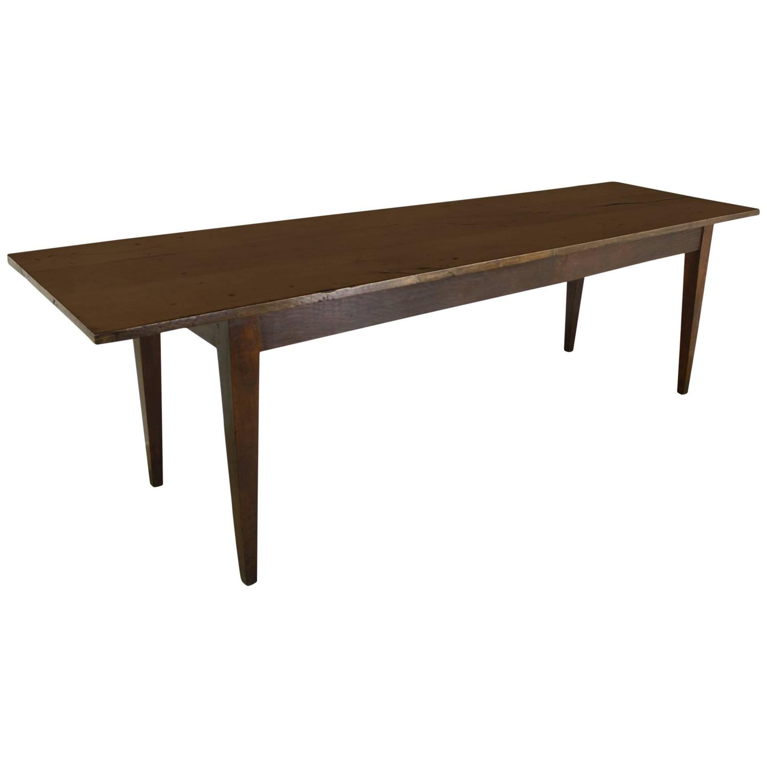 Long Dining Table For Sale Long Antique French Chestnut Farm Table For Sale At 1stdibs
