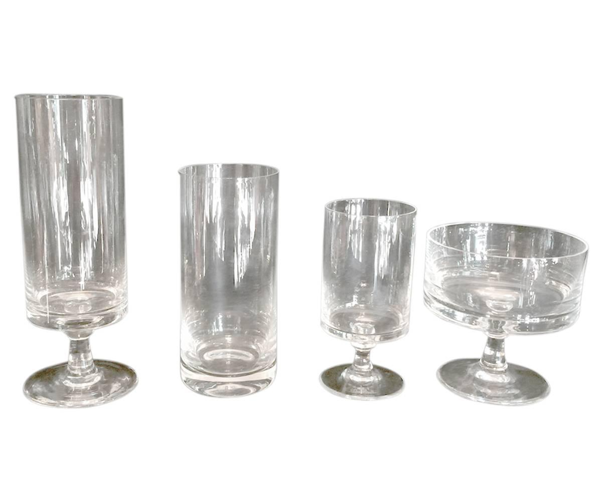 Crystal Stemware For Sale 100 Piece Signed Rosenthal Crystal Stemware For Sale At