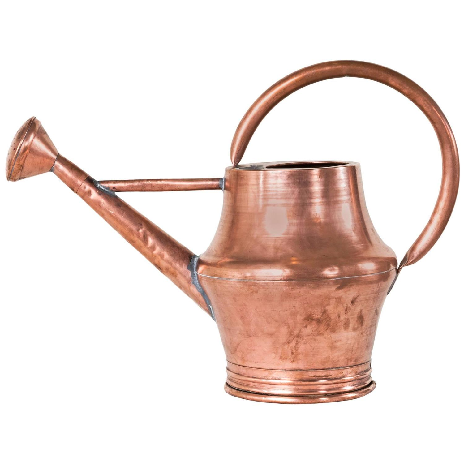 Large Watering Cans For Sale Large Scale 19th Century French Copper Watering Can For