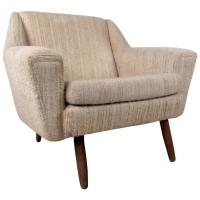 Mid-Century Danish Upholstered Lounge Chair For Sale at ...