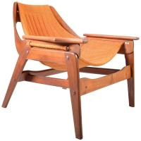Mid-Century Jerry Johnson Sculptural Bentwood Sling Chair ...