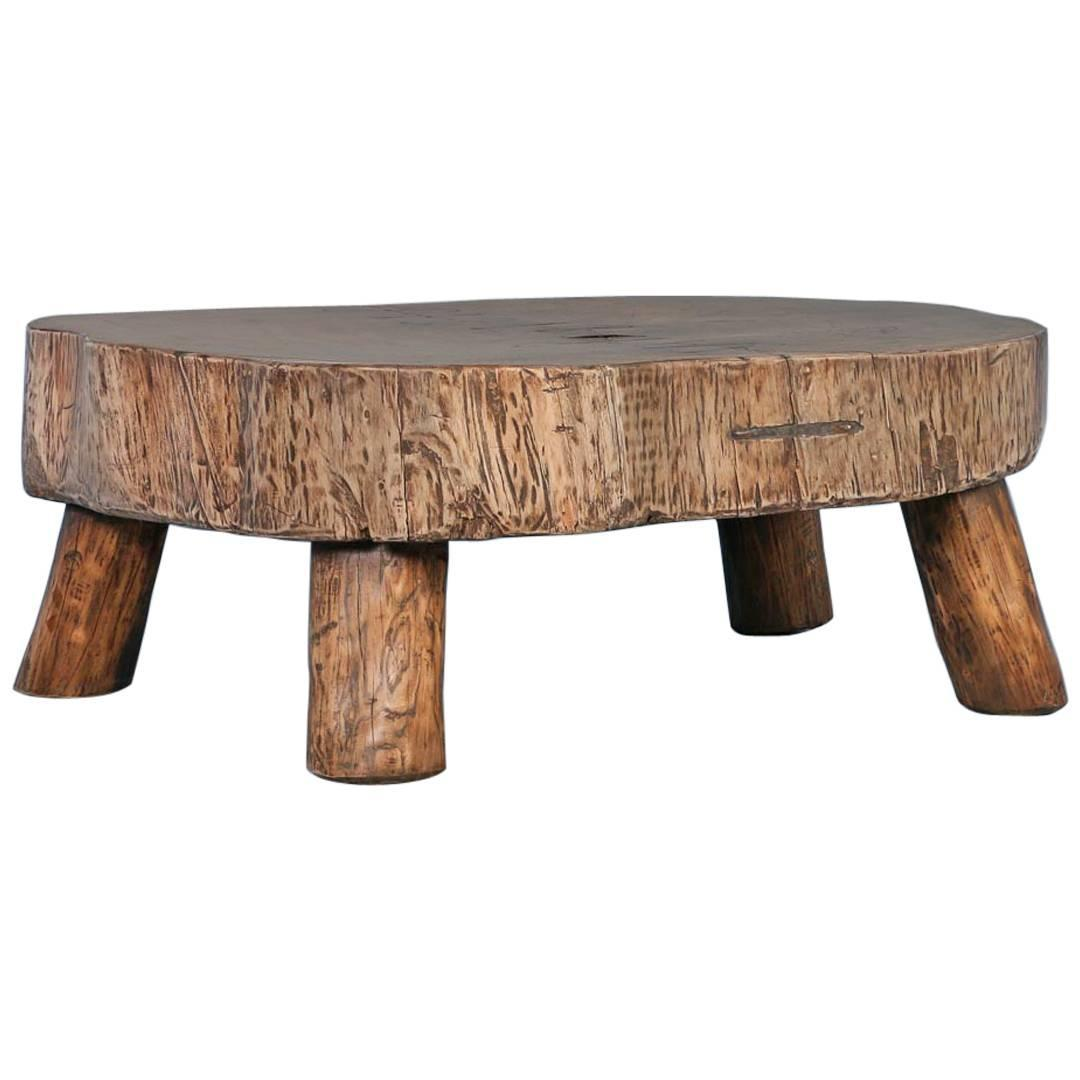 Couchtisch Rustikal Antik Rustic Antique Coffee Table Made From Large Slab Of Wood