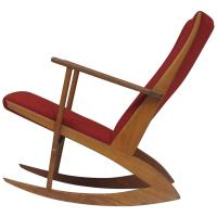 Soren Georg Jensen Mid-Century Danish Rocking Chair at 1stdibs