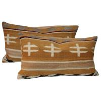 Chinlie Navajo Weaving Bolster Pillows For Sale at 1stdibs