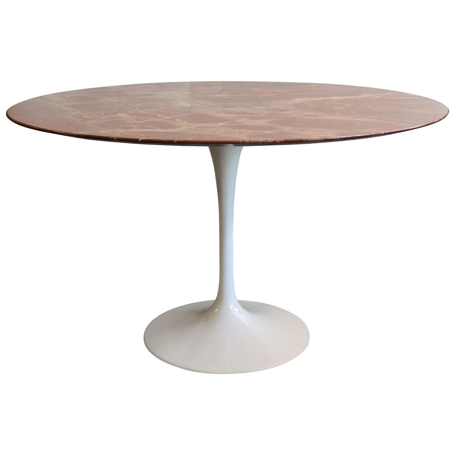 Tulip Tisch Saarinen Rose Marble Tulip Dining Table At 1stdibs