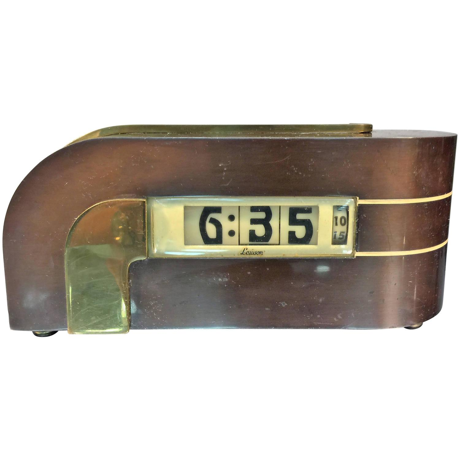 Digital Clock For Sale Streamline Kem Weber Art Deco Digital Clock For Sale At