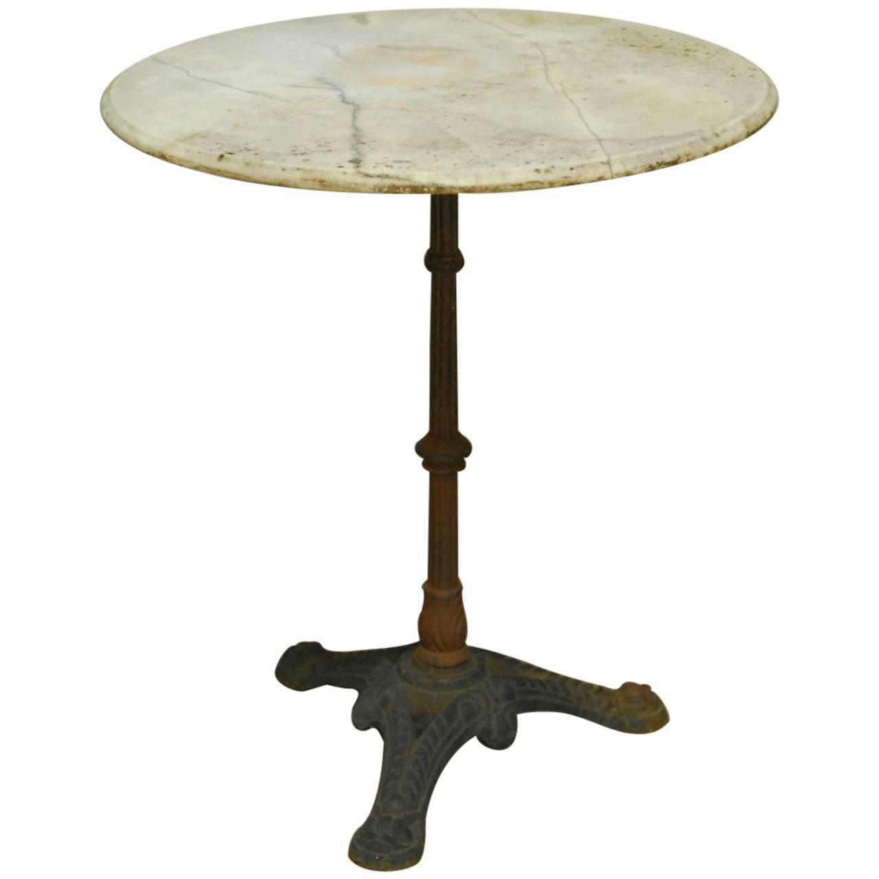 Cafe Table Tops French Parisian Marble Top Bistro Table For Sale At 1stdibs