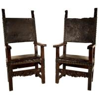 Pair of 18th Century Spanish Colonial Throne Chairs For ...