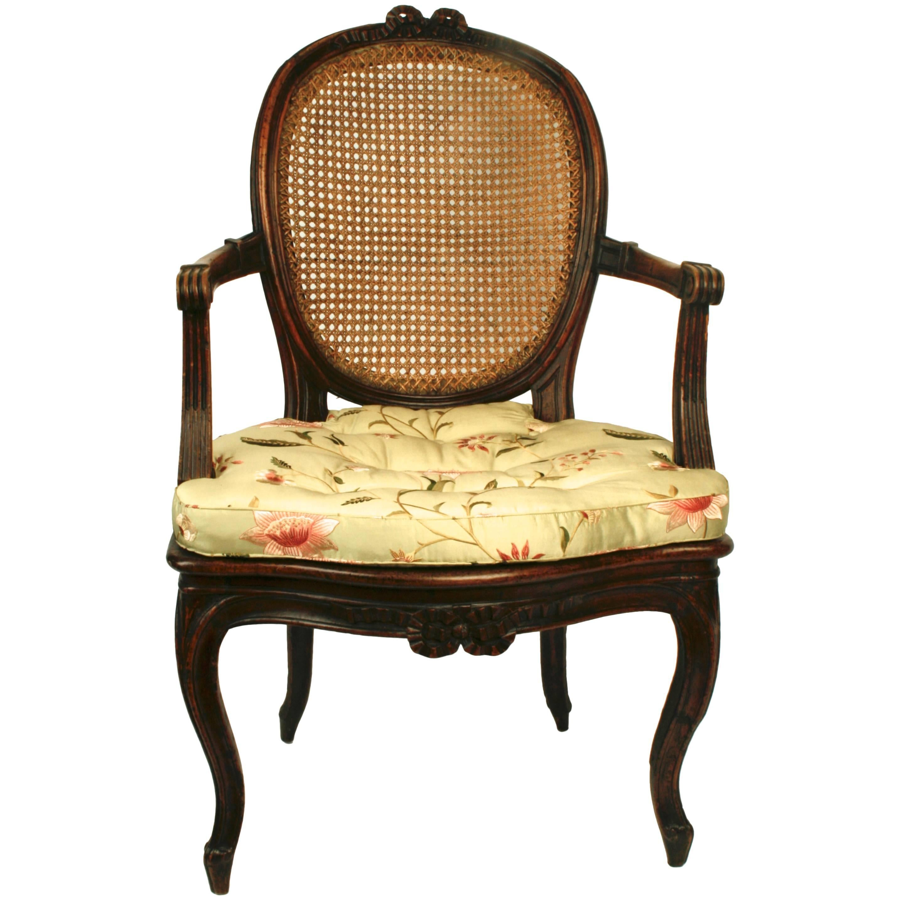 Fauteuil En Cabriolet Louis Xv Carved And Caned Fauteuil En Cabriolet C1750