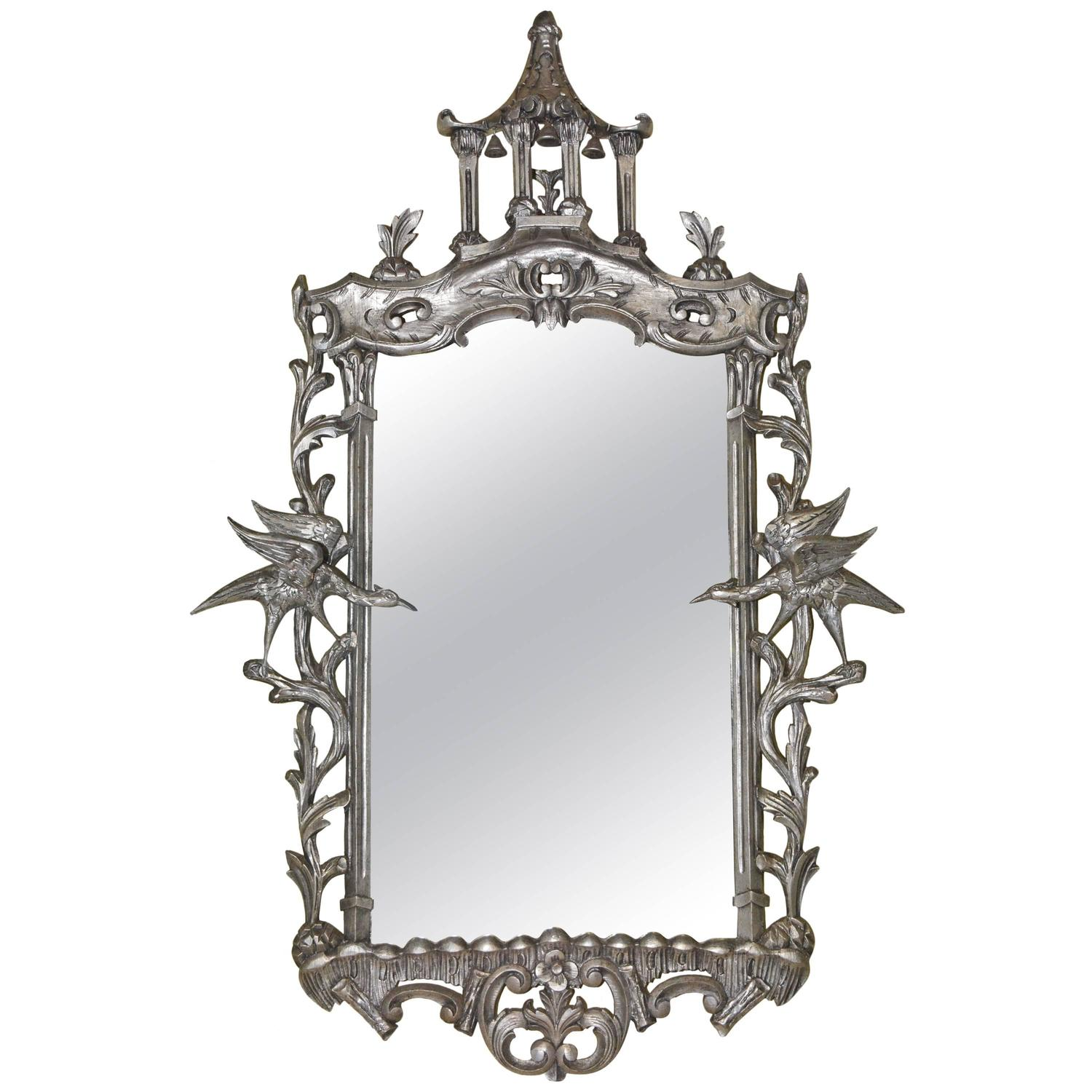 Asian Style Wall Mirrors Chinese Chippendale Style Mirror For Sale At 1stdibs