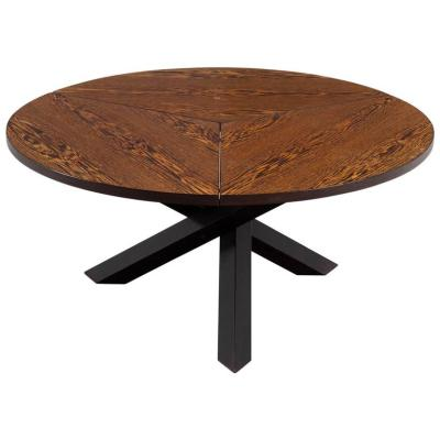 Martin Visser Round Dining Table in Wengé for 't Spectrum For Sale at 1stdibs