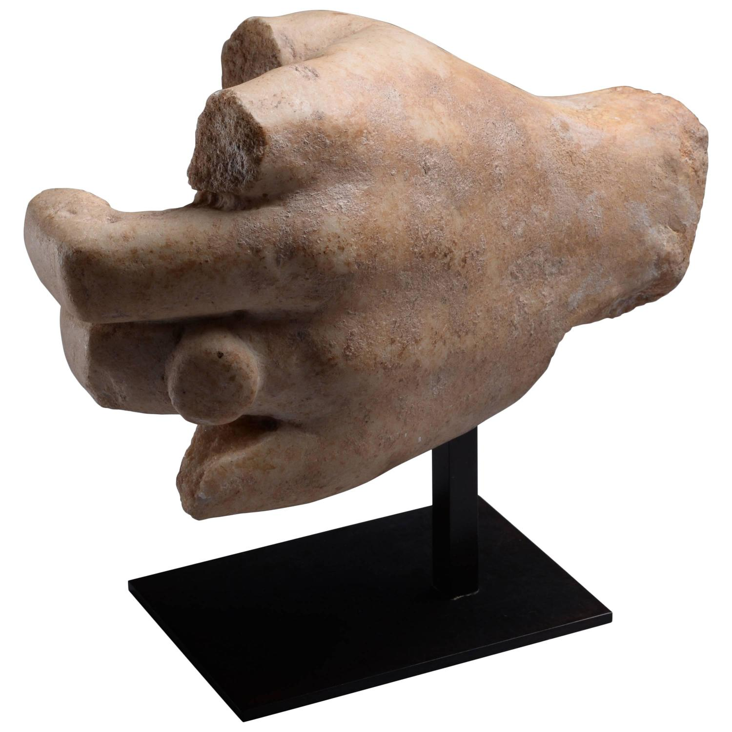Ancient Greek Statues For Sale Ancient Roman Marble Hand Wearing Ring 150 Ad For Sale At