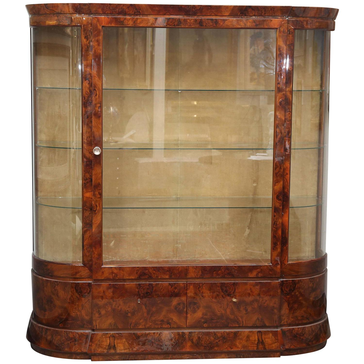 Art Deco Glass Vitrine For Sale At 1stdibs