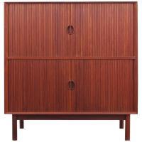 Mid-Century Modern Scandinavian Cabinet with Tambour Doors ...