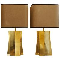 1970s Brass Italian Table Lamps - WITHOUT SHADES at 1stdibs