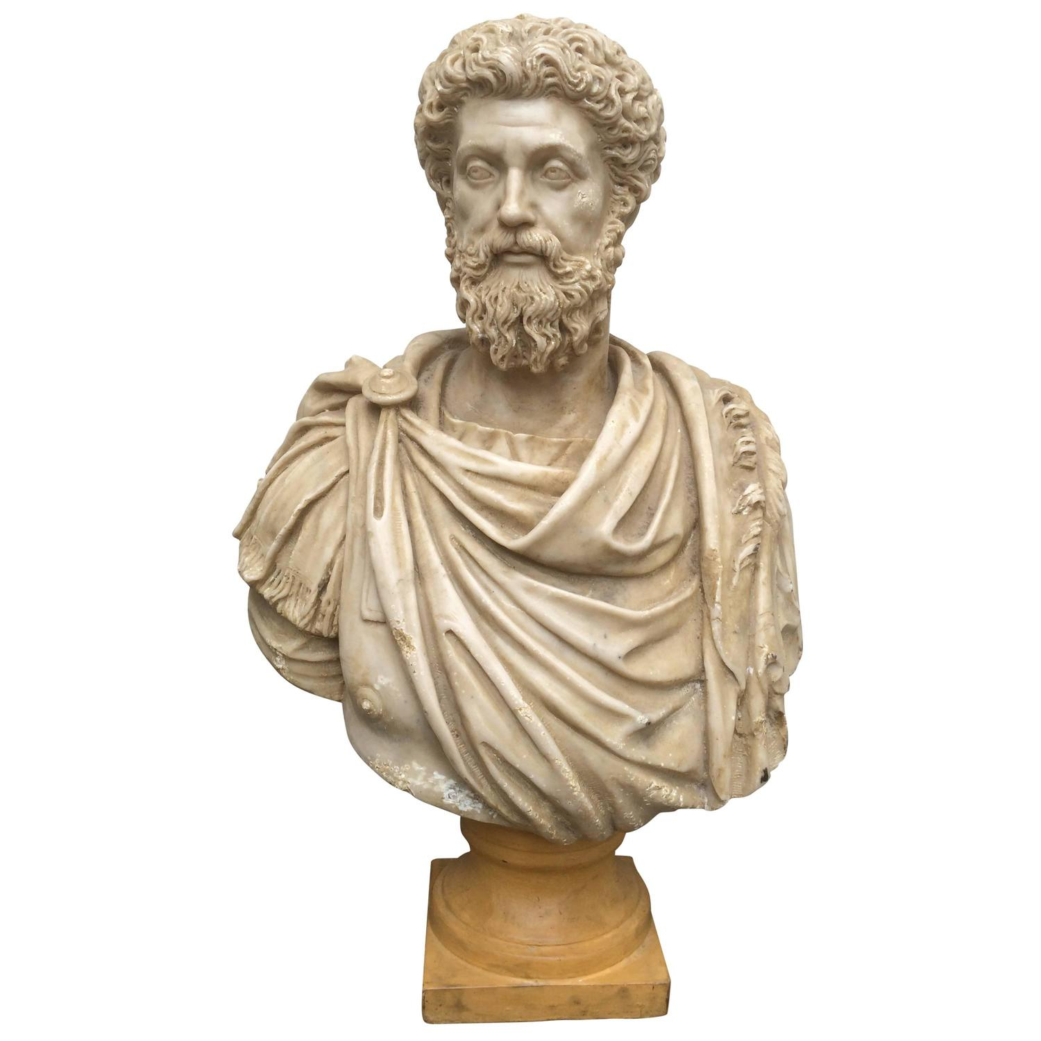 Ancient Greek Statues For Sale Roman Bust Of Marcus Aurelius For Sale At 1stdibs