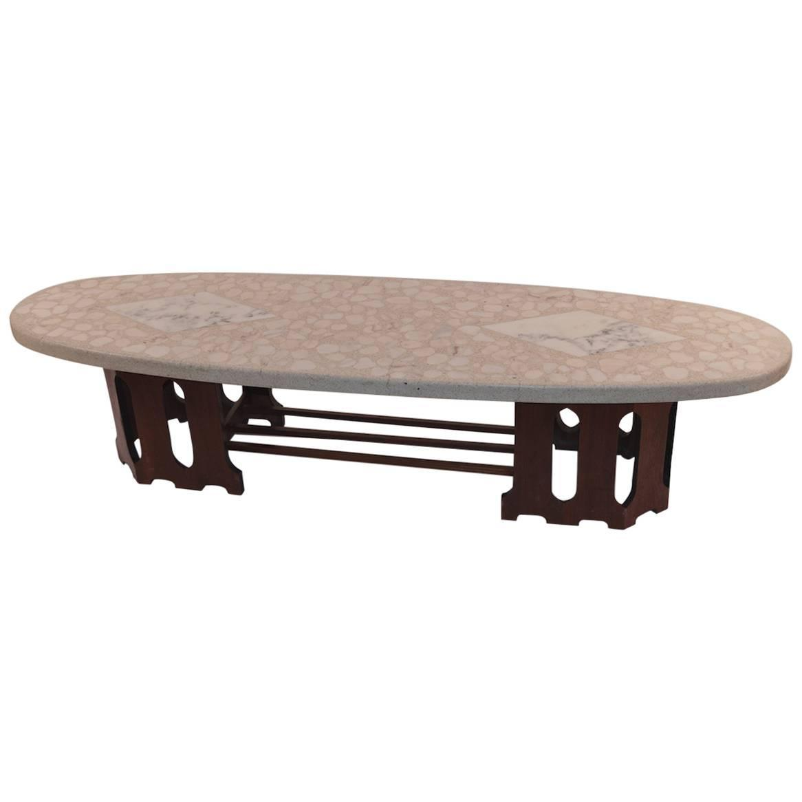Surfboard Tables For Sale Terrazzo Top Surfboard Coffee Table By Probber For Sale At