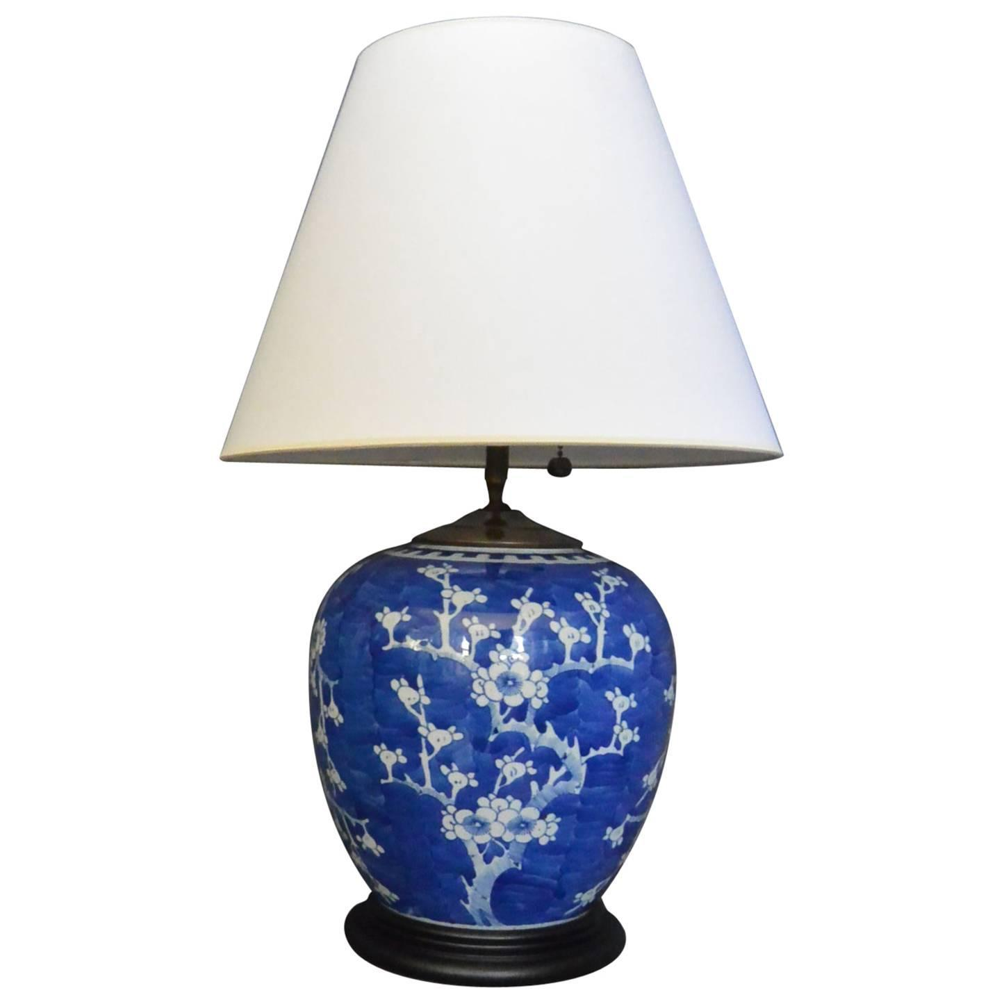 Cherry Blossom Table Lamps Blue And White Cherry Blossom Lamp For Sale At 1stdibs