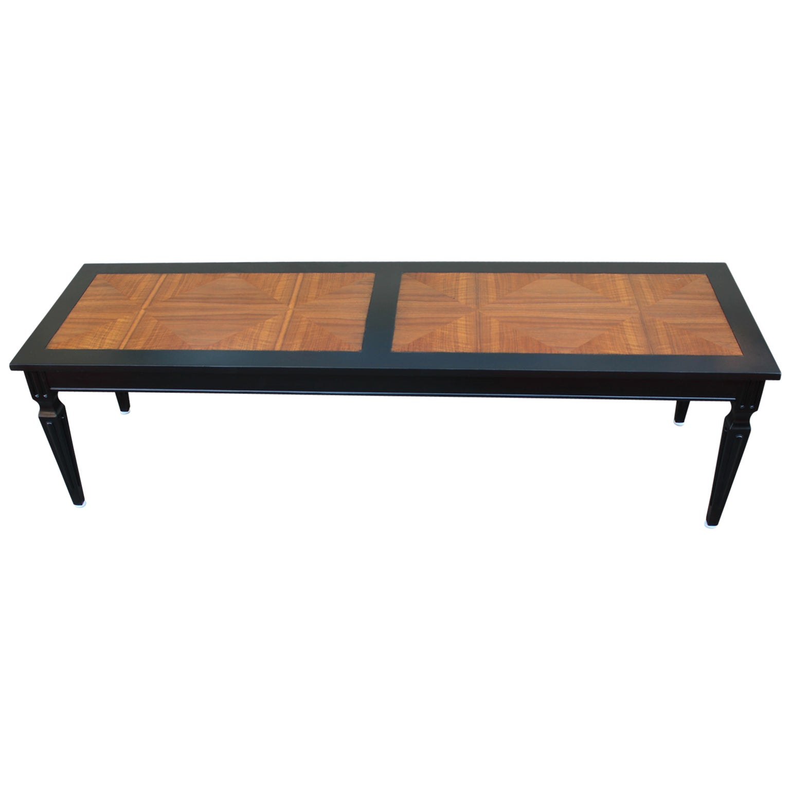 Table Luxe Luxe Parquet And Ebonized Modern Two Tone Coffee Table By Baker