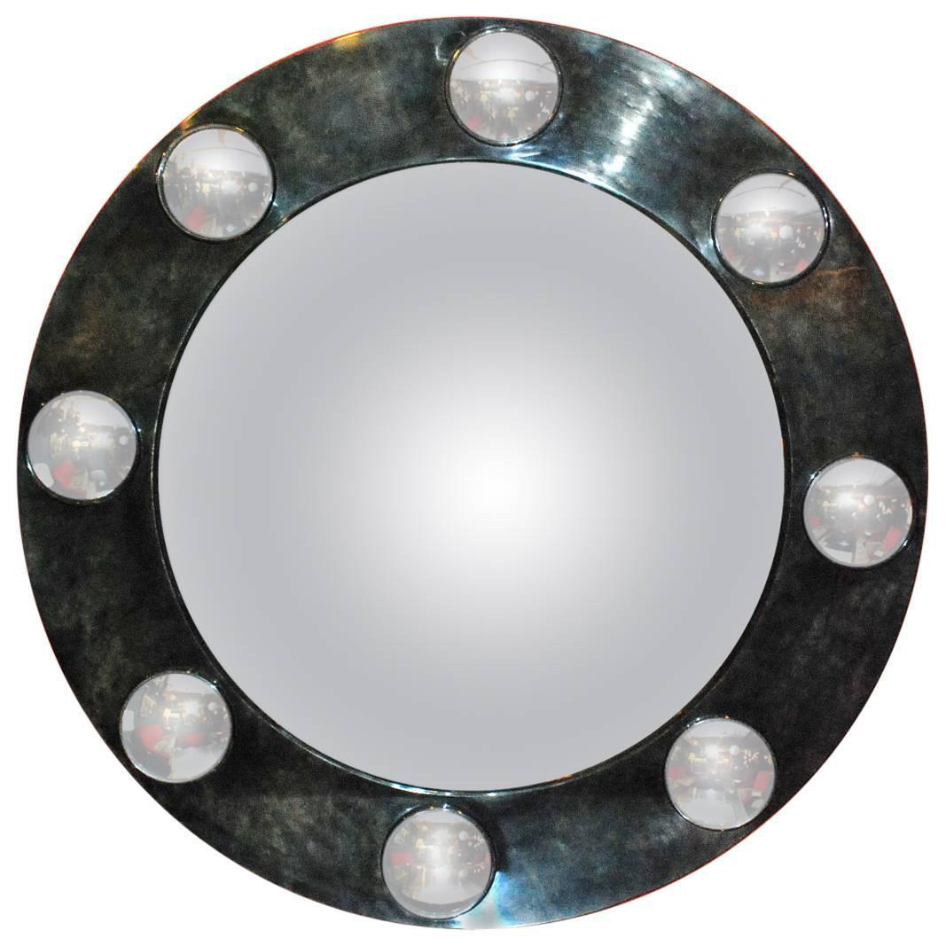 Round Mirrors For Sale Large Round Parchment Convex Mirror For Sale At 1stdibs