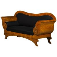 Decorative and Architectural Biedermeier Sofa in Birch For ...