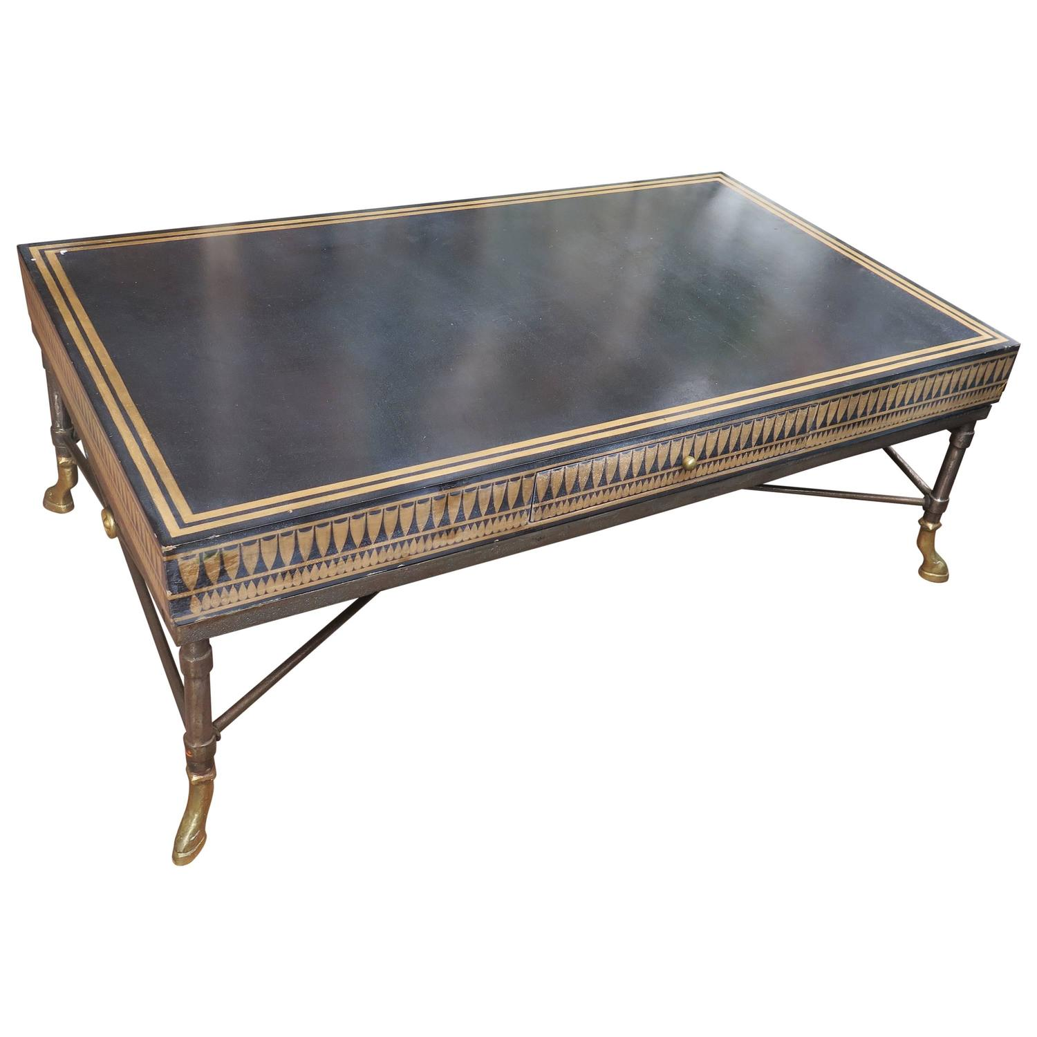 Unique Coffee Tables For Sale Unique Coffee Table With Bronze Feet Black And Gold Top