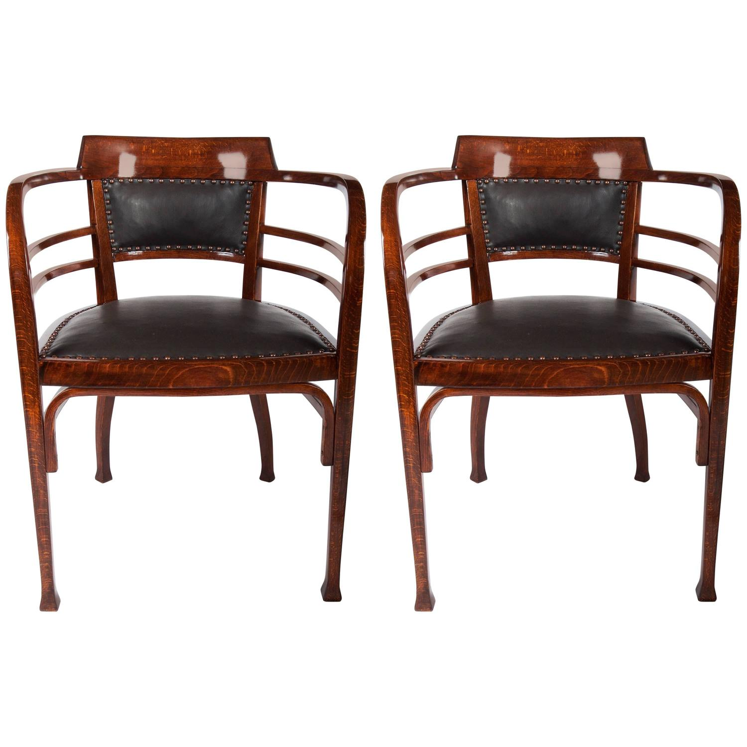 Otto Wagner Sofa Thonet Armchairs By Otto Wagner For Sale At 1stdibs