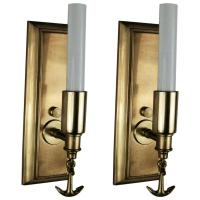 Pair of Ships Anchor Nautical Brass Sconces For Sale at ...