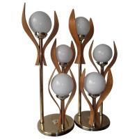Amazing Sculptural Bentwood Glass Globe Three-Way Table ...