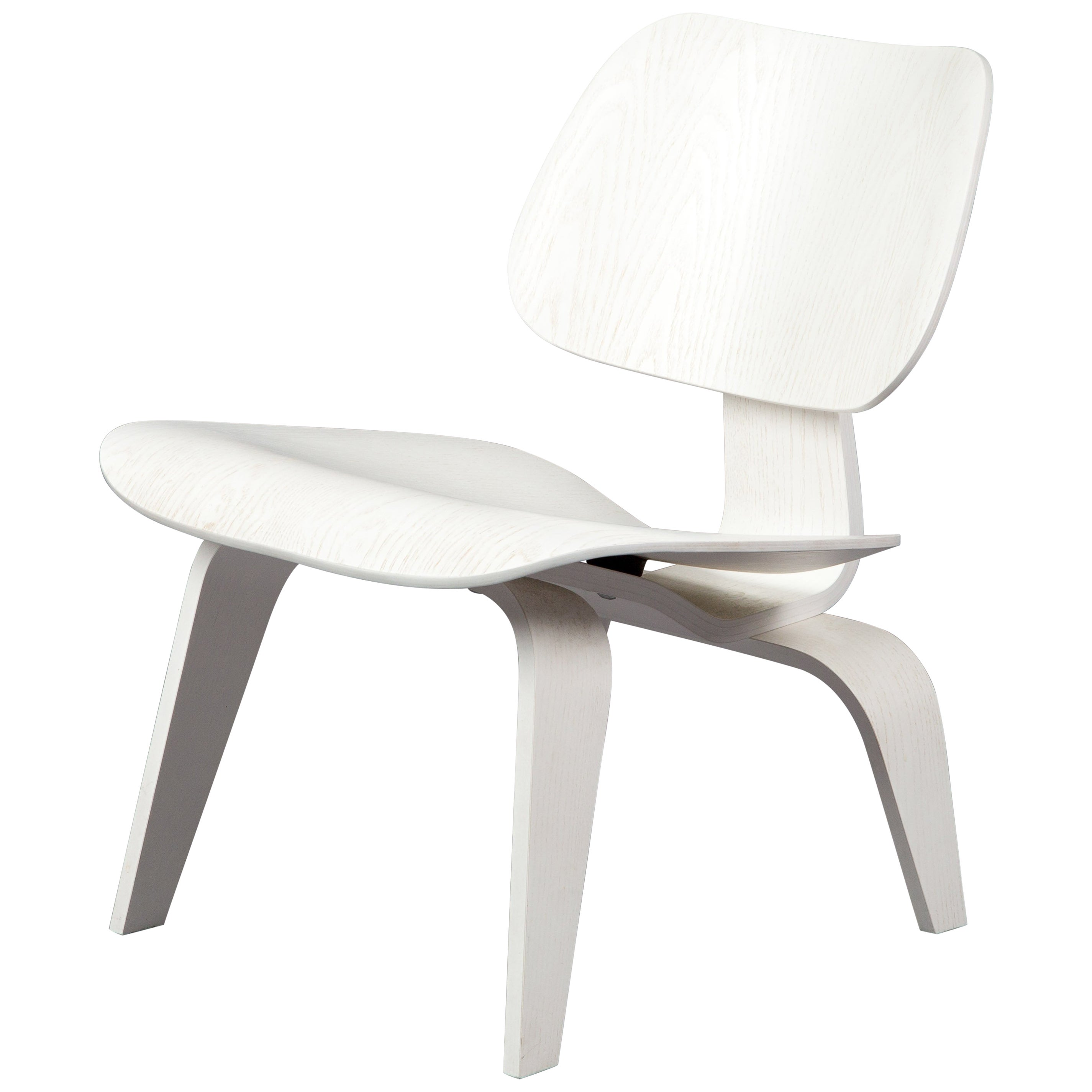 Eames Vitra Lcw Lounge Chair Wood White Limited Edition Eames Vitra