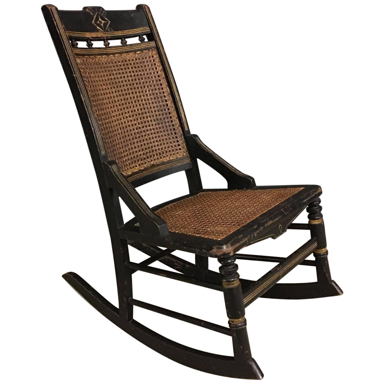 Antique french napoleon iii rocking chair circa 1850s
