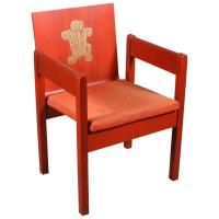 Prince of Wales Red Painted Investiture Chair For Sale at ...