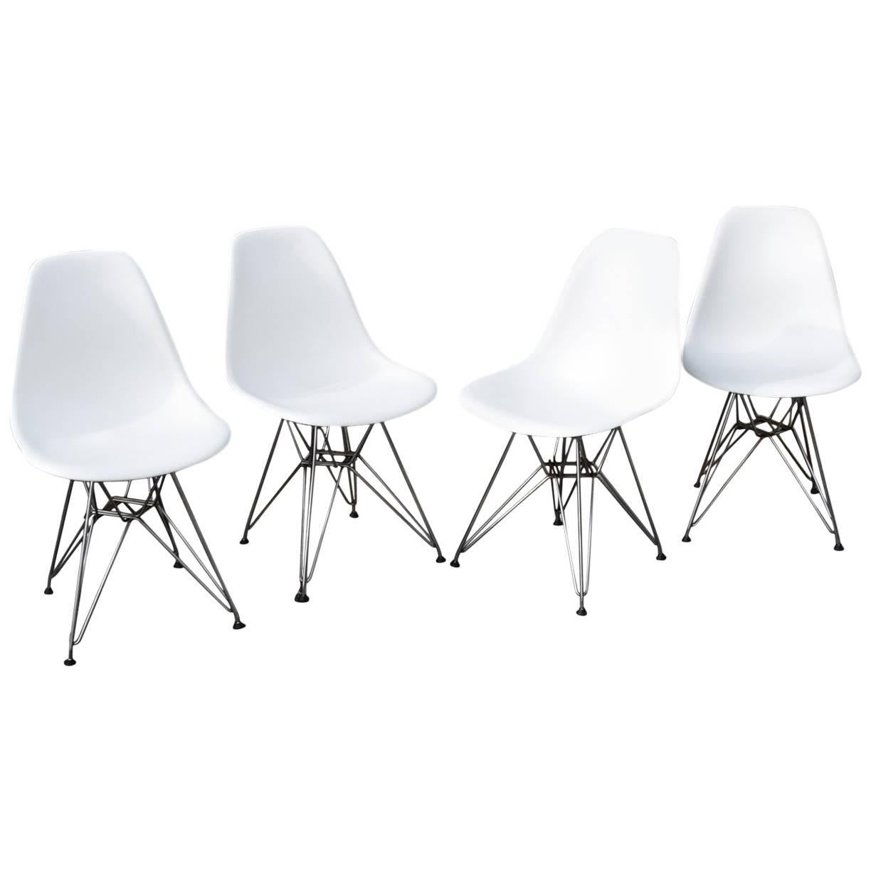 Eames Eiffel Eames Shell Chairs With Chrome Eiffel Tower Bases Midcentury
