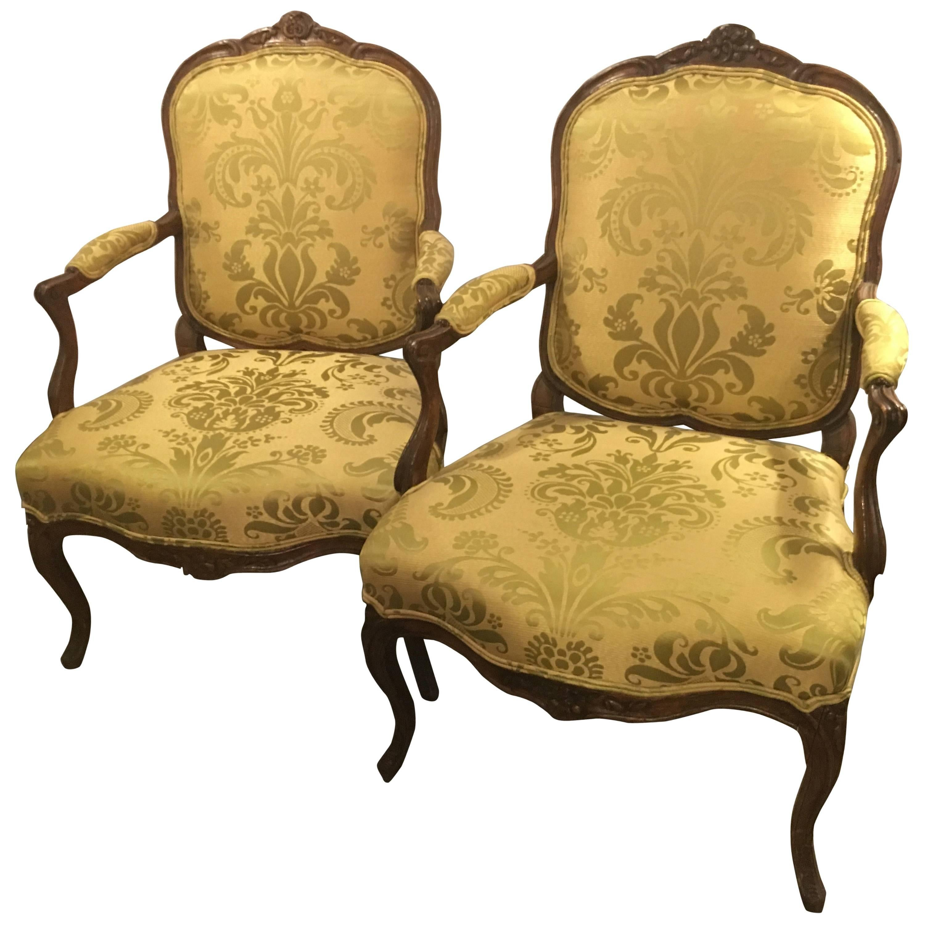 Fauteuils Bergeres Pair Of Period Louis Xv Fauteuils Or Arm Chairs Bergeres In Fine Condition
