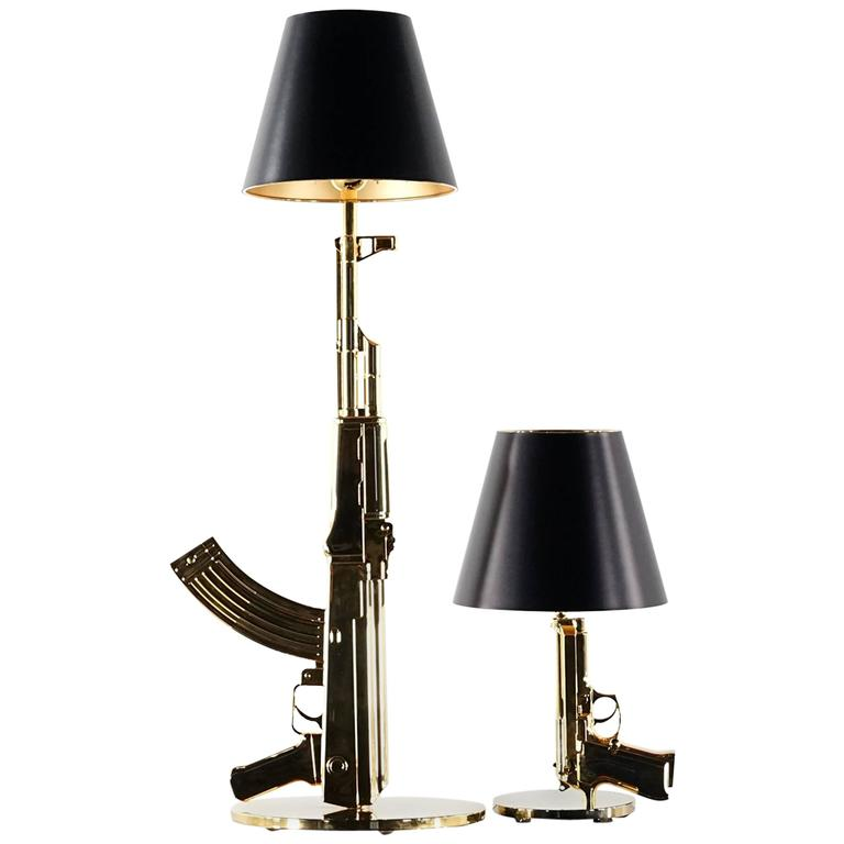 Philippe Starck Quotbedside Gunquot Lamp Flos 18 Karat Gold At