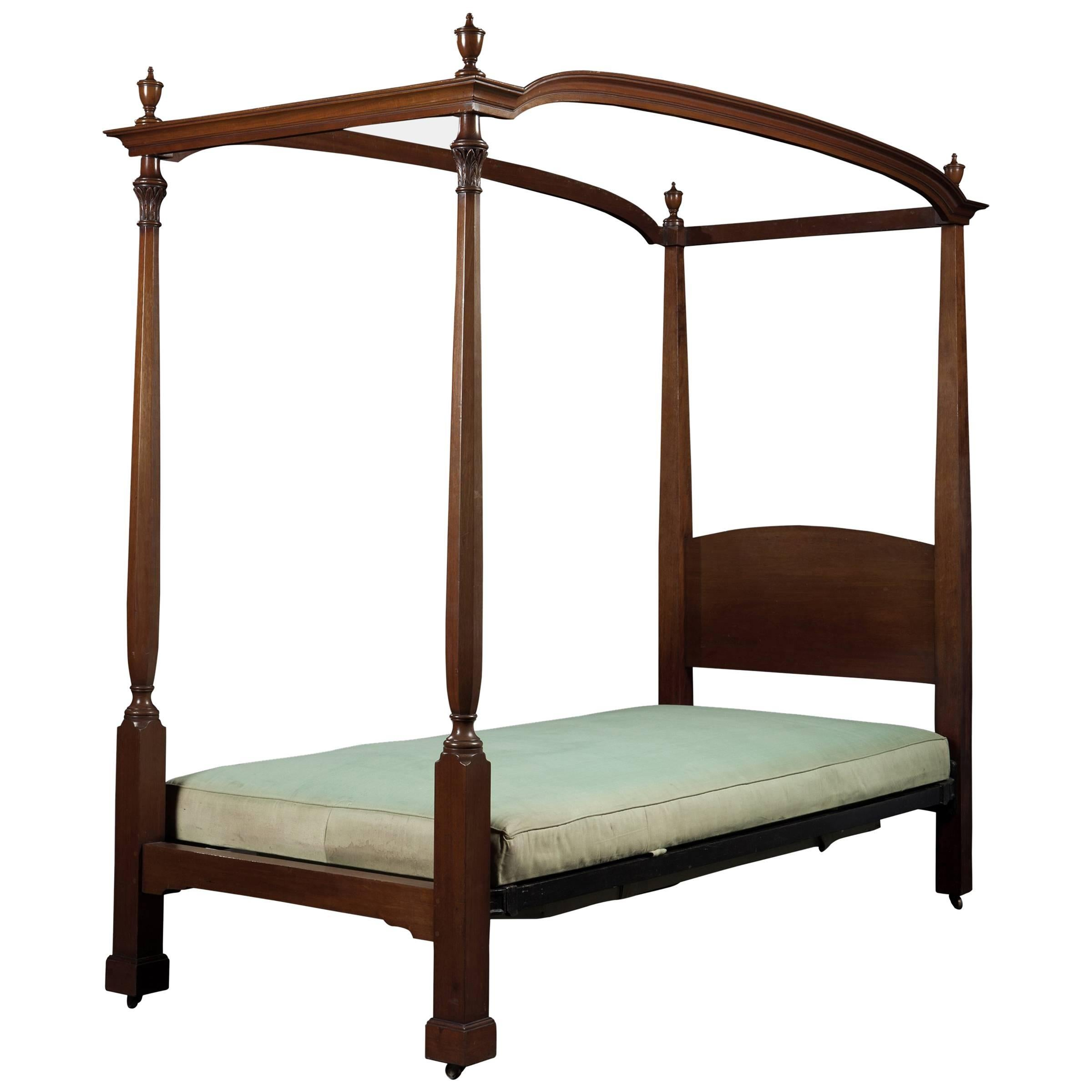 Single Four Poster Bed Mahogany Four Poster Single Bed