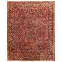 Large Antique Persian Sarouk Carpet with Floral Patterns ...