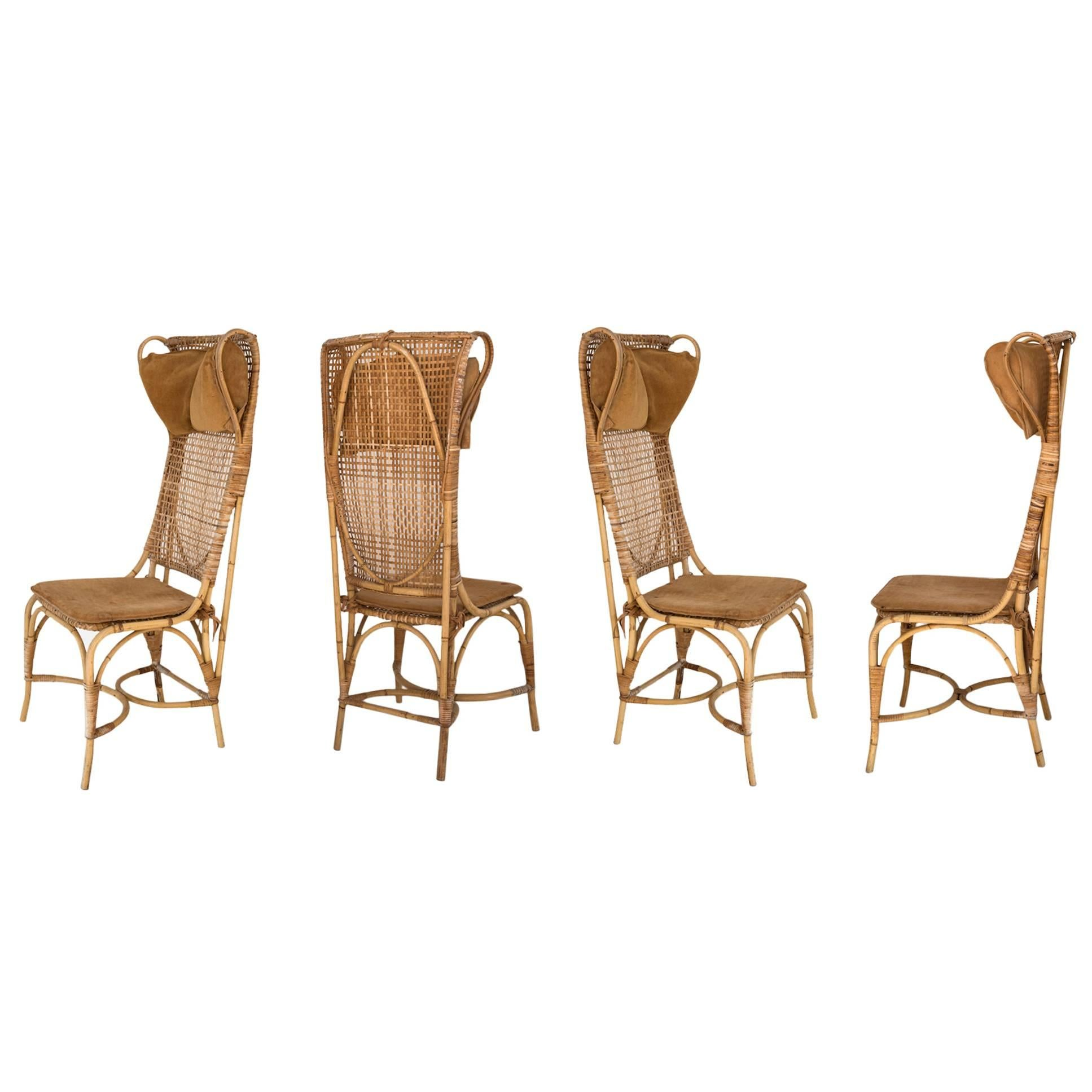 Rattan Chairs Josef Frank Set Of Four Rattan Chairs Manufactured Svenskt Tenn Sweden 1940s