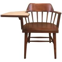 Maple Spindle Back Student Chair with Attached Arm Desk by ...