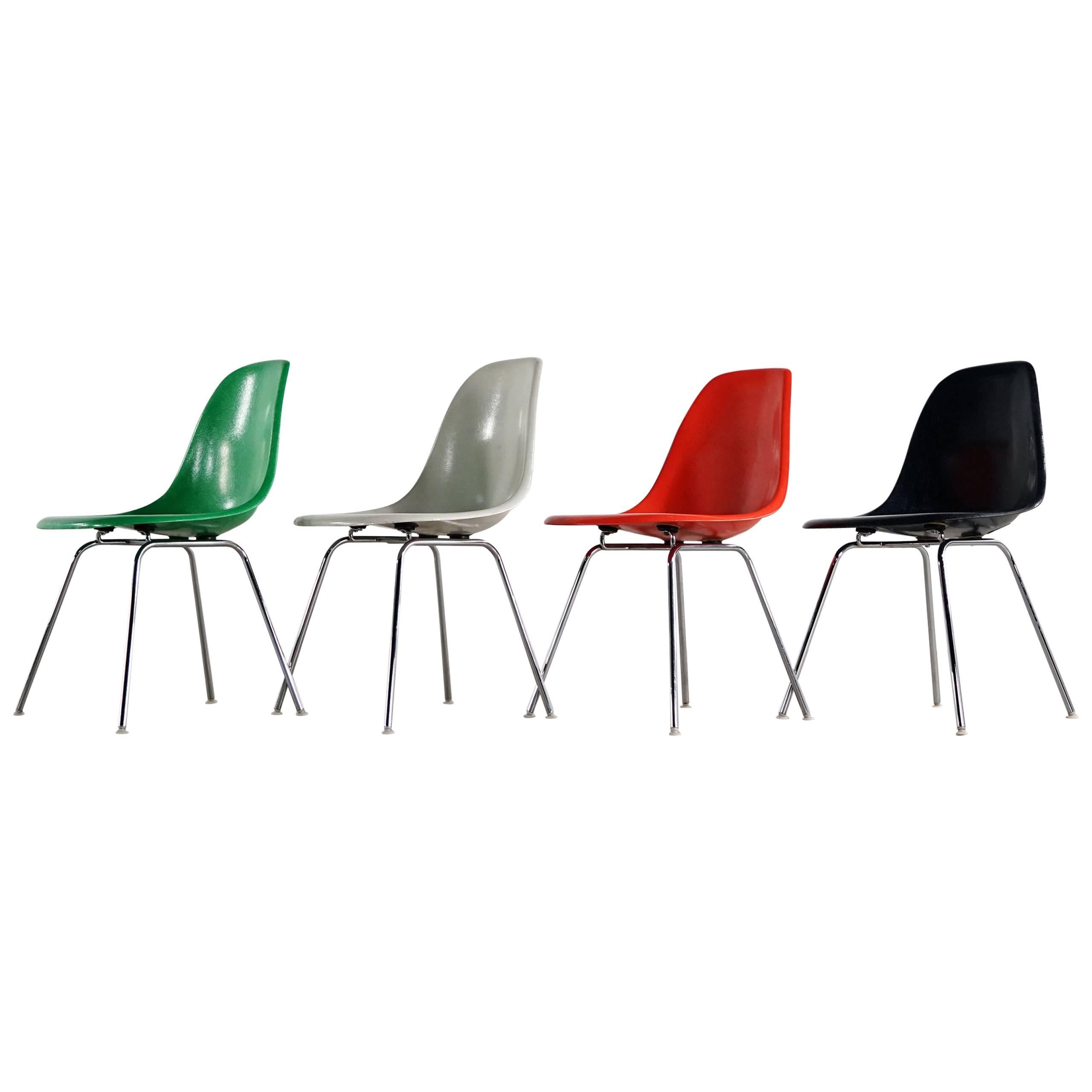 Vitra Eames Side Chair Charles Eames Rare Set Of Four Siede Chairs Fehlbaum Prod Vitra Etc