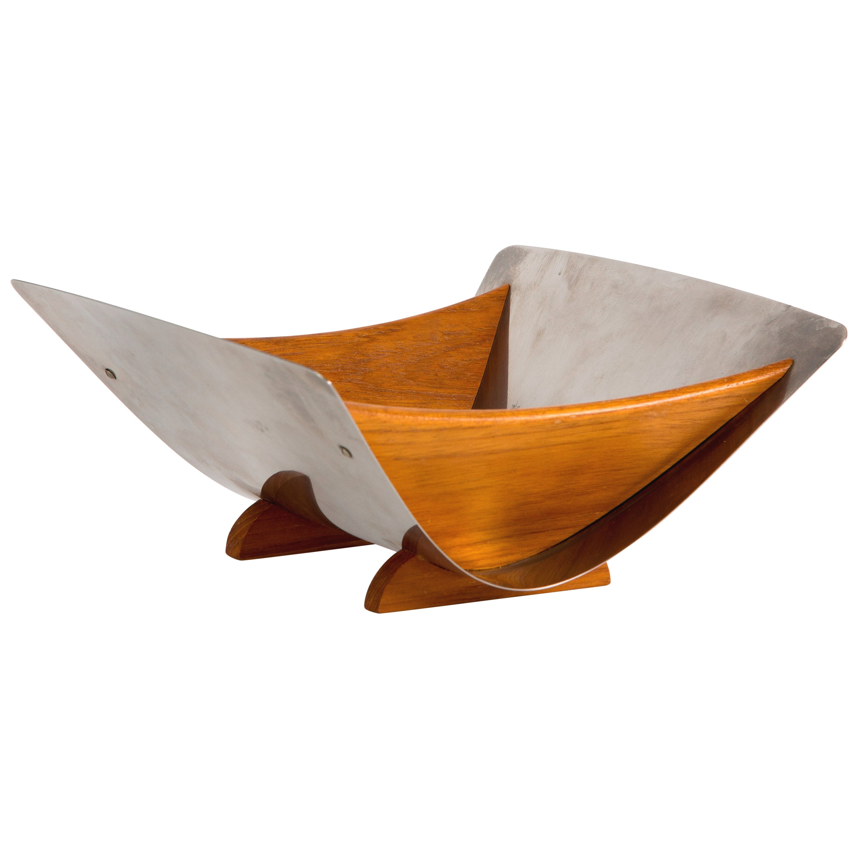 Wire Fruit Bowls Fruit Bowl Stainless Steel As Arthur Salm And Teak Sweden Circa 1960