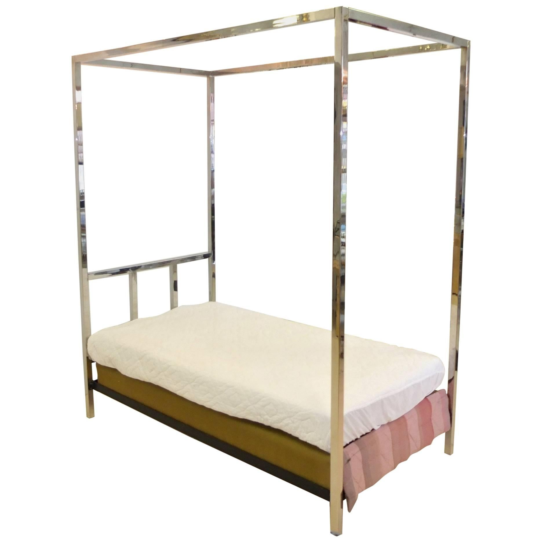 Single Four Poster Bed Pace Collection Chrome Four Poster Canopy Single Twin Bed
