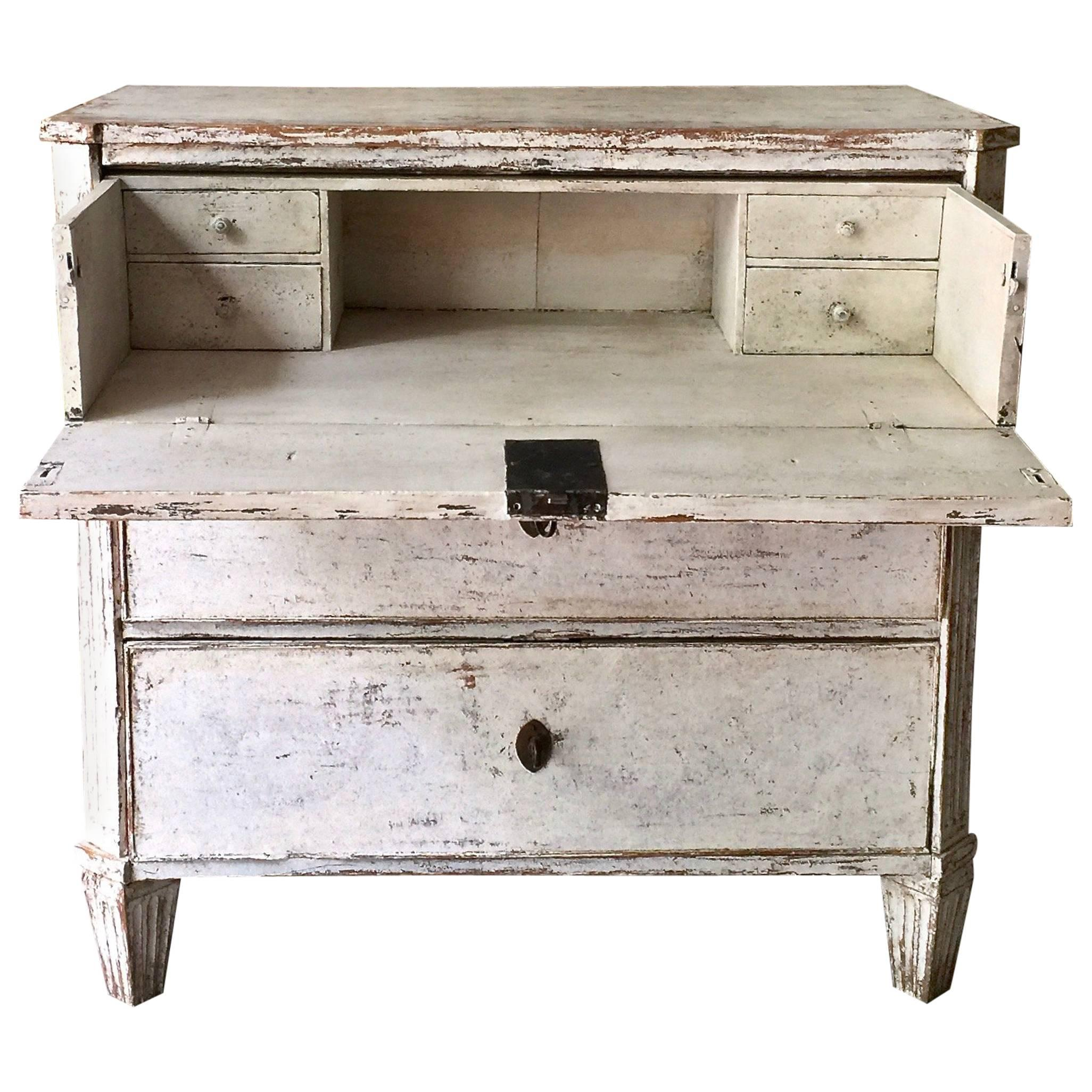 Desk Top Drawers 19th Century Swedish Gustavian Chest Of Drawers With Fall Front Top Drawer
