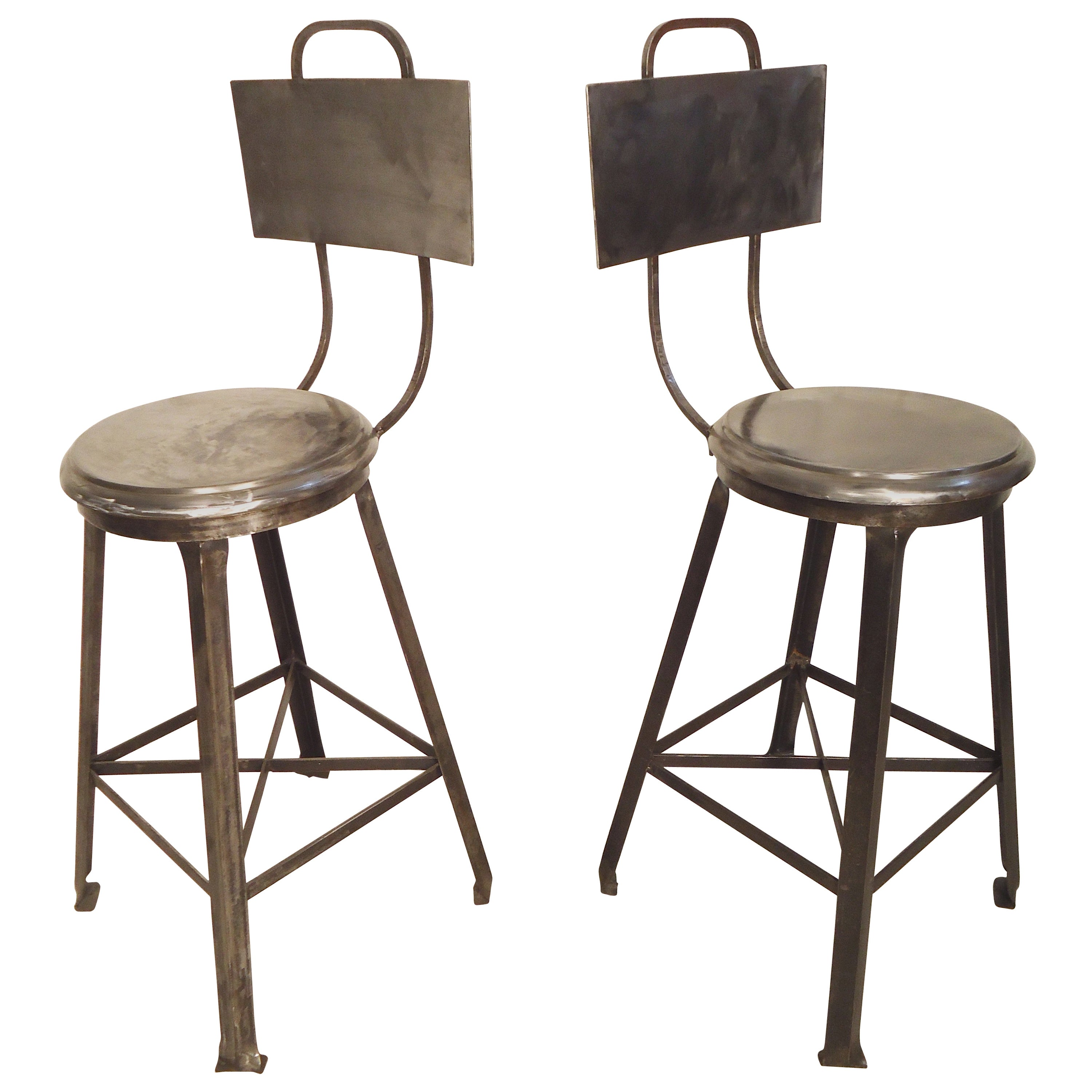 Metal Stools Heavy Industrial Style Bar Stools