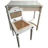 Maison Jansen Style Vanity or Desk Glass Top and Gilt ...